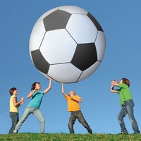 Six Footer - Giant Inflatable Soccer Ball - 6' Tall!