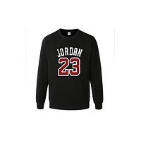 Jordan Men's sweater jacket Europe and the United States leisure collar round neck Black