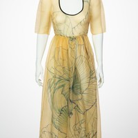 Prada James Jean Fairy Runway Yellow Silk Dress, 2008