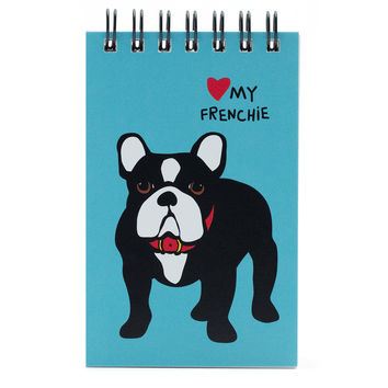 Frenchie Spiral Notepad