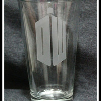 Dr Who Pint Glass