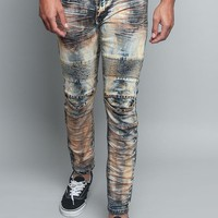 Copper Creased Biker Jeans