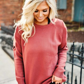 Marsala Wonder Sweater