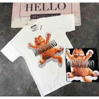 Moskino 2018 Spring/Summer Shoppe Garfield Dress F-AA-SYSY white