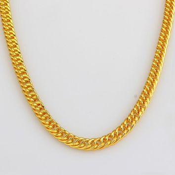 Gift Shiny New Arrival Jewelry Stylish Hip-hop Accessory Gold Necklace [10529028867]