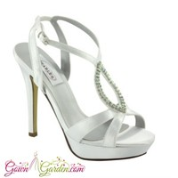Prom Shoes   White Prom Shoes   Platform Shoes   Prom Dresses   Hope by Dyeables 26413 White Platform Sandal   GownGarden.com