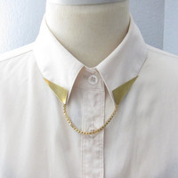 Triangle Collar Tips With Chain  Backorder by kellyssima on Etsy