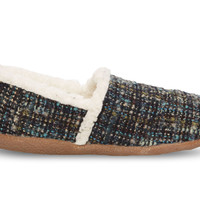 Blue Boucle Women's Slippers US
