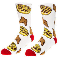 The Chicken and Waffles Sock in White