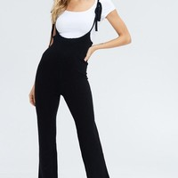 Life's Sweater With You Overall Jumpsuit in Black