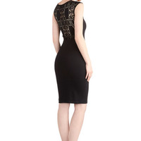 ModCloth LBD Long Sleeveless Bodycon Chic as Can Be Dress
