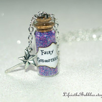Fairy Godmother with a Magic Wand Charm, Disney's Cinderella Inspired, by Life is the Bubbles