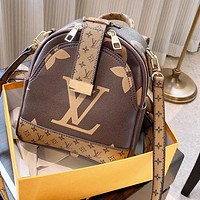 LV Bag Louis Vuitton Bag Backpack Coffee&Brown Small Bag
