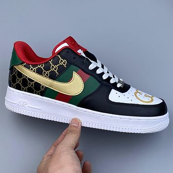 Nike Air Force 1 x GUCCI low-top flat comfortable sneakers shoes