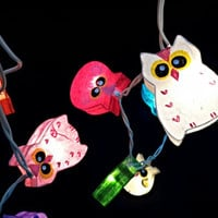 20 x handmade Owl bird colorful animal plant paper lantern string light kid bedroom light display garland colorful