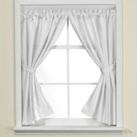 Westerly Bathroom Window Curtain Pair in White