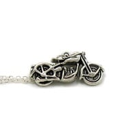 Motorcycle Necklace, Charm Necklace, Charm Jewelry, Motorcycle Pendant, Biker Chick Jewelry, Girlfriend Gift, Jewelry Gift, Biker Necklace