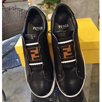 Fendi Black leather sneakers