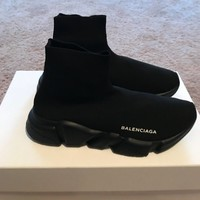 BALENCIAGA SPEED TRAINER SOCK SNEAKERS SZ 38 100% AUTHENTIC SOLD OUT BLACK