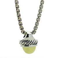 David Yurman Cable Classics Acorn Pendant Necklace in Gold and Sterling Silver