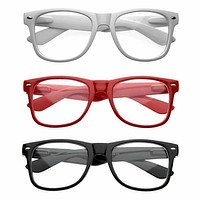Retro Nerd Geek Clear Lens Horned Rim Glasses 2873 [3 Pack]