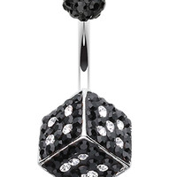 Ice Dice Sparkling Belly Button Ring