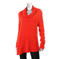 Vince Camuto Womens Ribbed Knit Cowl Neck Pullover Sweater