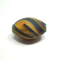 Lampwork Glass Bead, Sandblasted Dread Bead, Hand Blown Glass Focal Bead, Frosted, Large Bead, CGGE Team, READY to SHIP