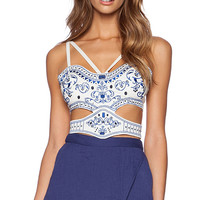 THE JETSET DIARIES Emperors Crop Top in White