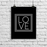 Black and White Love Quote Poster. Minimalist Home Decor. Love Typography. Modern love Poster. Typography Print. Love Print.