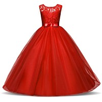 Flower Girls Dresses Teenage Kids Prom Dress Junior Senior Teens Girl Graduation Ceremonies Prom Dress Long Gown