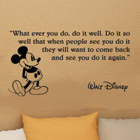 Disney Mickey Mouse What ever you do wall quote vinyl wall art decal sticker 29i