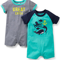 Carter's Baby Boys' 2-Pack Rompers