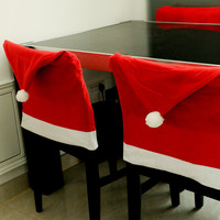 2016 4pcs/lot Christmas Chair Cover Non-woven Enfeites Para Casa Dinner Table Covers Navidad Xmas Christmas Decorations for Home