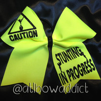 Cheer Bow - Caution