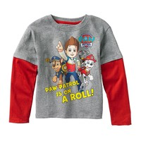 Paw Patrol ''On a Roll'' Mock-Layer Tee - Toddler Boy, Size: