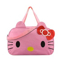 Cute Hello Kitty Handbags Ladies Girl's Women's Travel Messenger Bags Dual-use Organizer Shoulder Accessories Supplies Products