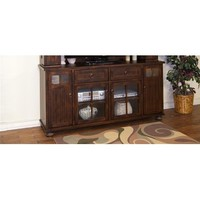 Sunny Designs Santa Fe Entertainment Wall TV Console In Dark Chocolate