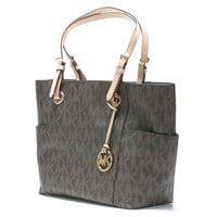 Michael Kors 'East West' Brown Signature Bag