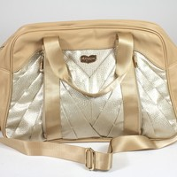 oGorgeous Gym Boutique - Pleated Pocket Gym Bag in Butterscotch