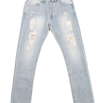 10 Deep - Damage Slim Pants (Light Blue Repair)