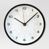 "6"" Round Table Clock Black - Project 62™"