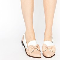 Lost | Lost Ink Bow Trim Brogue Flat Shoes at ASOS