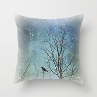 A Winter's Tale Throw Pillow by ALLY COXON