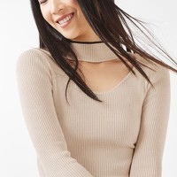 Fine Gauge Choker Knitted Top - New In