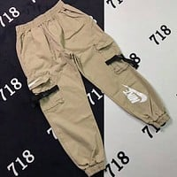 NIKE men and women pilot classic pocket flight staff pants casual beam pants F-XMCP-YC khaki