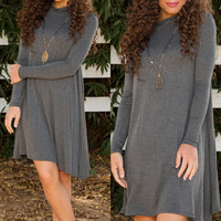 Randi Shift Dress - Gray