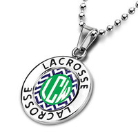 Lacrosse Circle Necklace LV Chevron Monogram | Lacrosse Necklaces | Lacrosse Jewelry