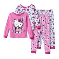 Hello Kitty Polka-Dot Pajama Set - Toddler Girl, Size: