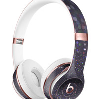 Purple and Black Unfocused Orbs of Light Full-Body Skin Kit for the Beats by Dre Solo 3 Wireless Headphones